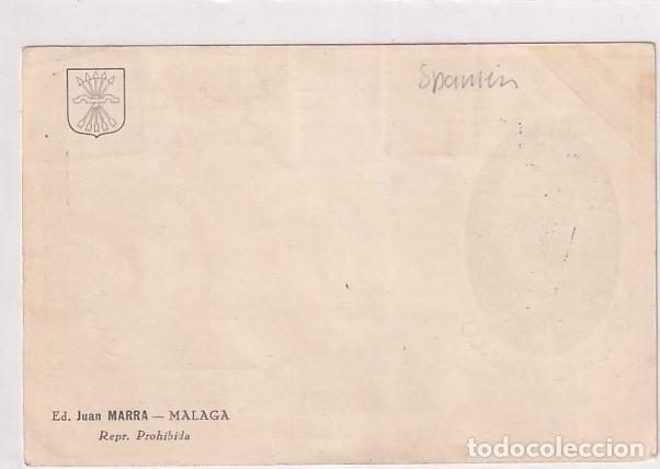 Sellos: Tarjeta postal. General Franco. Censura mililtar San Sebastian. Ed. Juan Marra. Málaga. - Foto 2 - 27899541