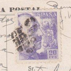 Sellos: MATASELLOS PINCHOS LIMADOS - EMERGENCIA - GRANADA 1940 ---- RRR ----EN POSTAL DE GRANADA. Lote 267053214