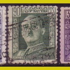 Sellos: 1946 GENERAL FRANCO, EDIFIL Nº 999 A 1001 (O). Lote 267174584