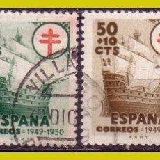 Sellos: 1949 PROTUBERCULOSOS, EDIFIL Nº 1066 A 1069 (O). Lote 267231104