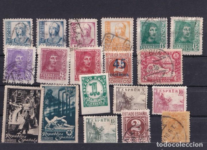 SELLOS ESPAÑA OFERTA FICHA LLENA DE SELLOS PRIMER CENTENARIO (Sellos - España - Estado Español - De 1.936 a 1.949 - Usados)