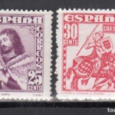 Timbres: ESPAÑA, 1948 EDIFIL Nº 1033 / 1034 /**/, PERSONAJES, SIN FIJASELLOS.. Lote 269168658