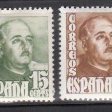 Sellos: ESPAÑA, 1948 - 1954 EDIFIL Nº 1020 / 1023 /*/, GENERAL FRANCO. Lote 269171468