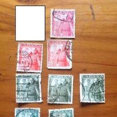 Sellos: 11 SELLOS DEL GENERAL FRANCO Y EL CASTILLO DE LA MOTA. 1948. Lote 269234953
