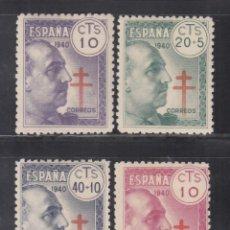 Sellos: ESPAÑA, 1940 EDIFIL Nº 936 / 939 /**/, PRO TUBERCULOSOS, SIN FIJASELLOS. Lote 269464158