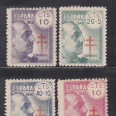 Sellos: ESPAÑA, 1940 EDIFIL Nº 936 / 939 /**/, PRO TUBERCULOSOS, SIN FIJASELLOS. Lote 269464213