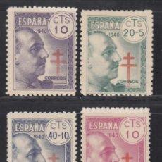 Timbres: ESPAÑA, 1940 EDIFIL Nº 936 / 939 /**/, PRO TUBERCULOSOS, SIN FIJASELLOS. Lote 269464243