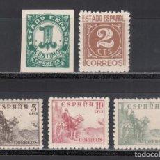 Sellos: ESPAÑA, 1940 EDIFIL Nº 914 / 918 /**/, CIFRAS Y CID, SIN FIJASELLOS. Lote 269468063