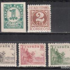 Sellos: ESPAÑA, 1940 EDIFIL Nº 914 / 918 /**/, CIFRAS Y CID, SIN FIJASELLOS. Lote 269468083