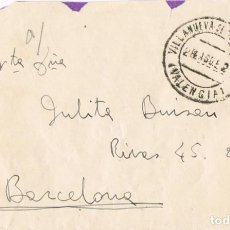 Sellos: 0924. CARTA VILLANUEVA DE CASTELLON (VALENCIA) 1952. Lote 271601643