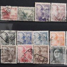 Sellos: SERIE COMPLETA EDIFIL 1044 A 1061 EN USADO FRANCO ESPAÑA 1949. Lote 273403083
