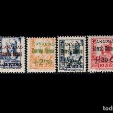 Sellos: ESPAÑA - 1937-38 - CANARIAS - EDIFIL 40/43 - SERIE COMPLETA - MNH** - NUEVOS - VALOR CATALOGO 115€. Lote 274443758