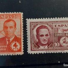 Sellos: ESPAÑA 1945. EDIFIL 991/2*. NUEVOS CON SEÑAL DE FIJASELLOS. BUEN CENTRADO. Lote 275721528