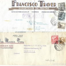 Sellos: LOTE 3 CARTAS 1946 CARTA VALENCIA A SUIZA. CORREO AÉREO.. Lote 275983483