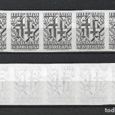 Sellos: ESPAÑA BARCELONA TELEGRAFOS 1941 EDIFIL 14S SIN DENTAR X 5 (*) - 7/40. Lote 277138213