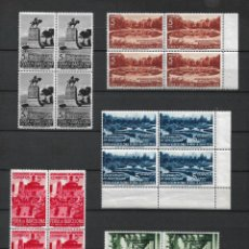 Sellos: ESPAÑA BARCELONA 1936 EDIFIL 14/18 BLOQUE X 4 ** MNH - 7/42. Lote 277142478