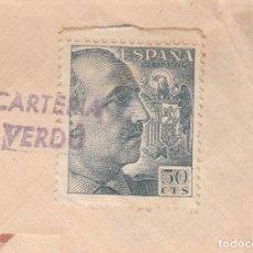 Sellos: SOBRE CON MATASELLOS CARTERÍA DE VERDÚ (LLEIDA). Lote 277151273