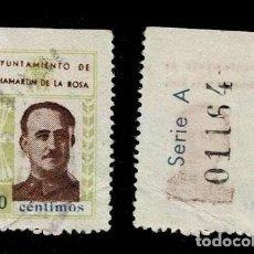 Sellos: 0196 GUERRA CIVIL CHAMARTIN DE LA ROSA (MADRID) EFIGIE DE FRANCO FESOFI Nº 6 VALOR 10 CTS. COLOR CAS. Lote 277154698
