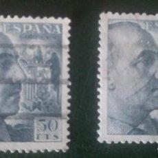 Sellos: 2 SELLOS USADOS DE ESPAÑA GENERAL FRANCO 50 CTS. Lote 277196438