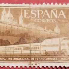 Sellos: 3 SELLOS XVII CONGRESO INTERNACIONAL FERROCARRILES 1958. Lote 277234888
