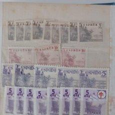 Sellos: SELLOS ESPAÑA AÑO 1900/1950 OFERTA ANTIGUO CLASIFICADOR LLENO DE SELLOS VER FOTOGRAFIAS. Lote 277435163