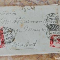 Sellos: SOBRE CARTA MATASELLO LARACHE MARRUECOS AÑO 1949. Lote 278227423