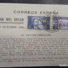 Sellos: AÑO 1944. TARJETA DOCTOR THEBUSSEM. Lote 278345568