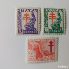 Sellos: PRO. TUBERCULOSOS DEL AÑO 1946 EDIFIL 1008/1010 EN NUEVO**. Lote 278380678