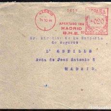 Sellos: GIROEXLIBRIS. ESPAÑA.- METER-STAMPS CARTA CIRCULADA CON MATASELLOS MECÁNICO DE 1944 DEL B.H.E.. Lote 278563533