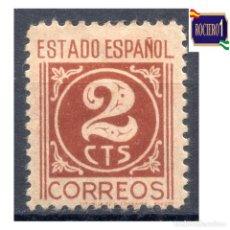 Sellos: ESPAÑA 1937-40-. EDIFIL 815. CIFRAS Y CID. NUEVO* MH. Lote 278817558