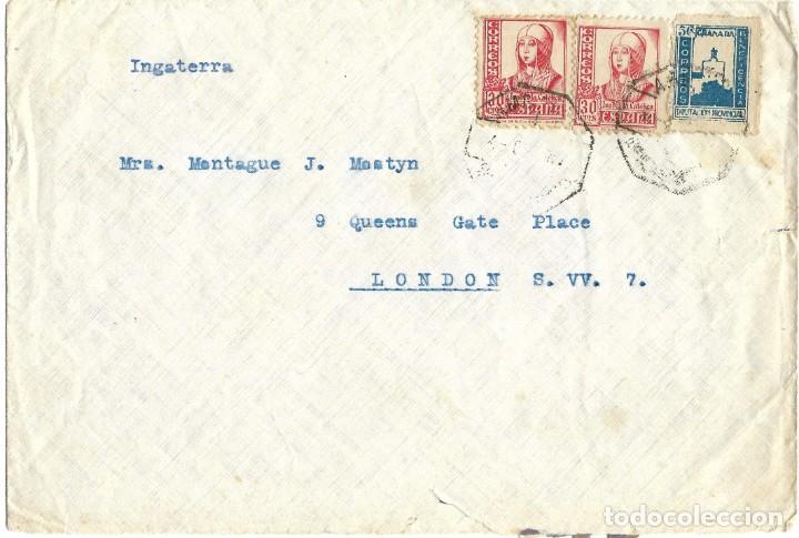 1940'S (2ª GUERRA MUNDIAL) CARTA CARTA CARTAGENA MURCIAA A GALES. (Sellos - España - Estado Español - De 1.936 a 1.949 - Cartas)