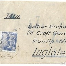 Sellos: 1941-44CA (2ª GUERRA MUNDIAL) CARTA CARTAGENA MURCIA A INGLATERRA CENSURA. Lote 278834948