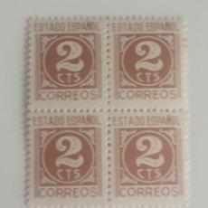 Sellos: 4 SELLOS 2 CTS ESTADO ESPAÑOL CORREOS. NUEVOS. PERFECTOS.. Lote 279405423