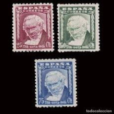 Sellos: 1946.II CENT. NACIMIENTO GOYA SERIE MNH.EDIFIL.1005-1007. Lote 279449648