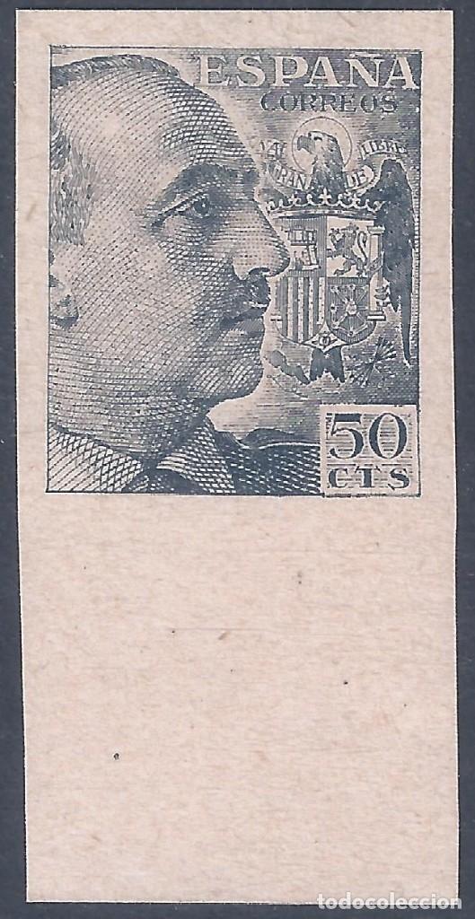 EDIFIL 927 GENERAL FRANCO 1940-1945 (VARIEDAD..PRUEBA DE IMPRESIÓN ANVERSO Y REVERSO). LUJO. MNH ** (Sellos - España - Estado Español - De 1.936 a 1.949 - Nuevos)