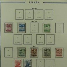 Selos: HOJA CON SELLOS DE ESPAÑA – AÑO 1941 – 1943. Lote 285141978