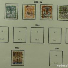 Selos: HOJA CON SELLOS DE ESPAÑA – AÑO 1932 – 1936. Lote 285142258