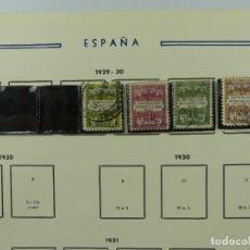 Selos: HOJA CON SELLOS DE ESPAÑA – AÑO 1929 – 1930. Lote 285142328