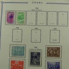 Selos: HOJA CON SELLOS DE ESPAÑA – AÑO 1938. Lote 285168433