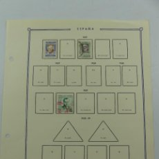 Selos: HOJA CON SELLOS DE ESPAÑA – AÑO 1937. Lote 285168463