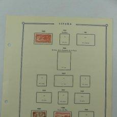 Selos: HOJA CON SELLOS DE ESPAÑA – AÑO 1933 Y 1940. Lote 285168533