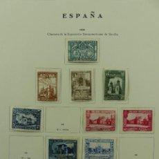 Selos: HOJA CON SELLOS DE ESPAÑA – CLAUSURA DE LA EXPOSICION IBERAMERICANA DE SEVILLA AÑO 1930. Lote 285168733
