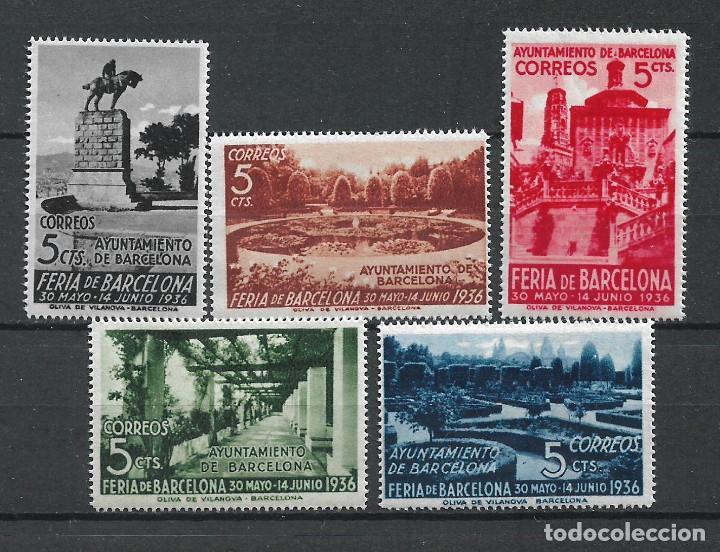 ESPAÑA BARCELONA 1936 EDIFIL 14/18 ** MNH 24 € - 7/37 (Sellos - España - Estado Español - De 1.936 a 1.949 - Nuevos)