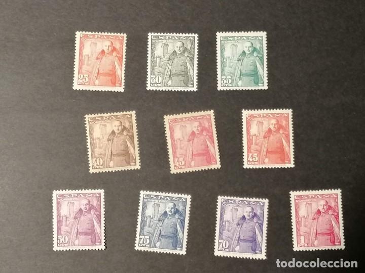 ESPAÑA SELLOS FRANCO CASTILLO AÑO 1948 EDIFIL 1024/32 SELLOS NUEVOS CHANELA Y MH * 10 VALORES (Sellos - España - Estado Español - De 1.936 a 1.949 - Nuevos)