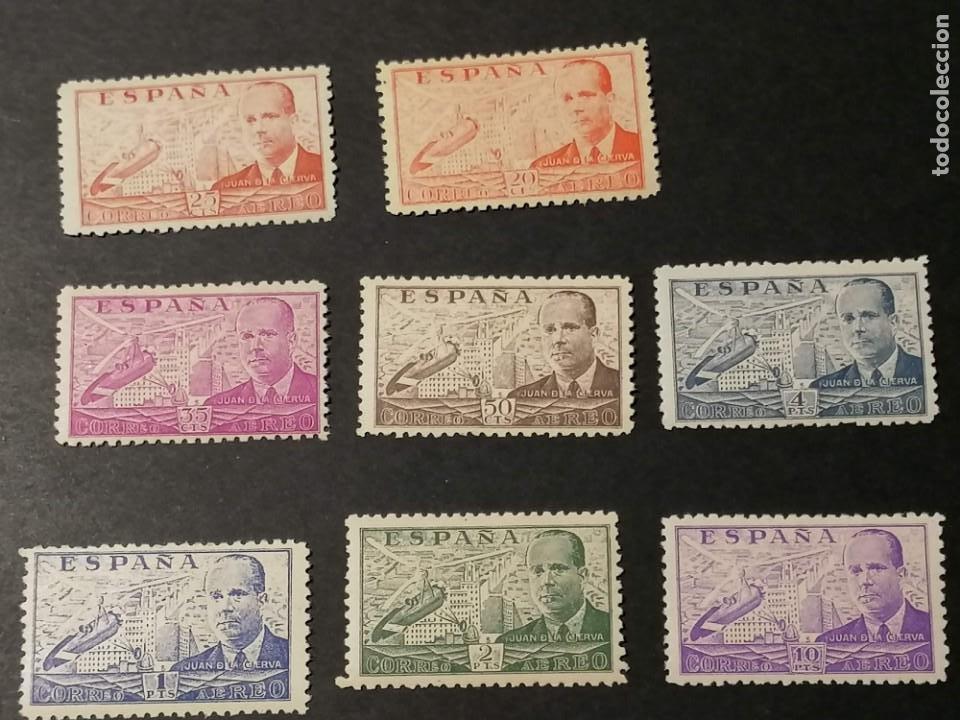 ESPAÑA SELLOS JUAN DE LA CIERVA AÑO 1940 EDIFIL 940/7 SELLOS NUEVOS CHANELA Y MH * (Sellos - España - Estado Español - De 1.936 a 1.949 - Nuevos)