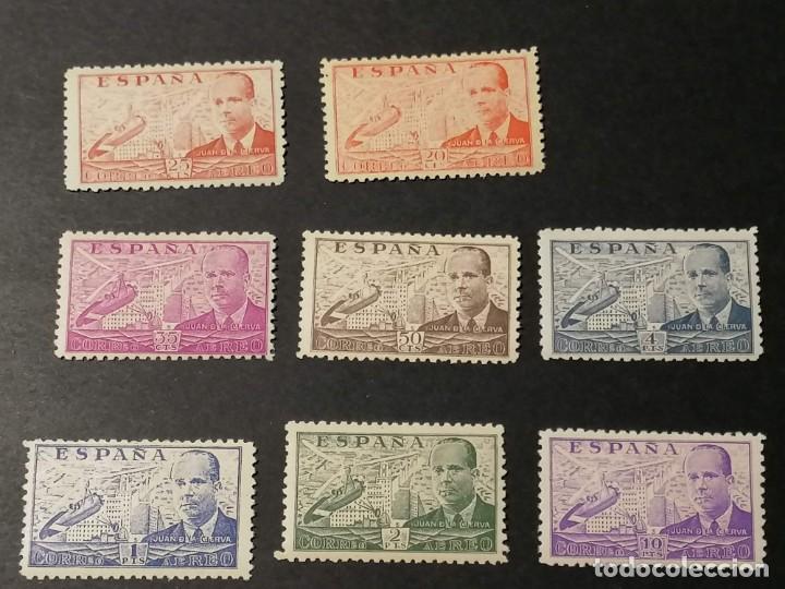 Sellos: España sellos Juan De la Cierva año 1940 Edifil 940/7 sellos nuevos Chanela y MH * - Foto 2 - 286444073