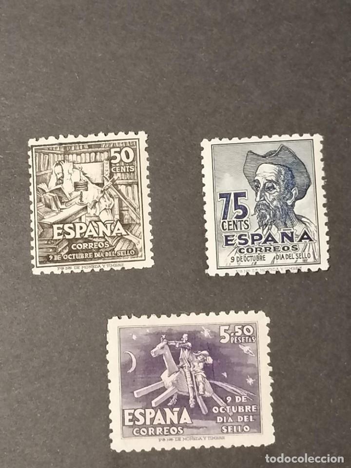 Sellos: España sellos Quijote año 1947 Edifil 1012/4 sellos nuevos * MH Chanela - Foto 2 - 286445563