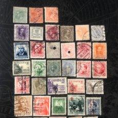 Selos: BONITO LOTE DE 36 SELLOS ANTIGUOS DE ESPAÑA (30/11). Lote 286774938
