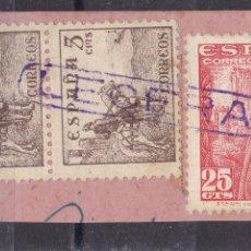 Sellos: BB8- FRANCO /CID MATASELLOS LINEAL ESTACIÓN LECERA ZARAGOZA. Lote 286927398