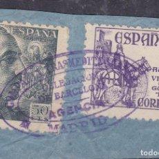 Sellos: BB8- FRANCO /CID MATASELLOS COMPAÑIA TRANSMEDITERRANEA DELEG BARCELONA. AGENCIA MADRID. Lote 286927498